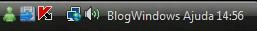 Coloque seu nome ao lado das horas doWindows