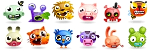 30 emoticons gratuitos da Fun Family