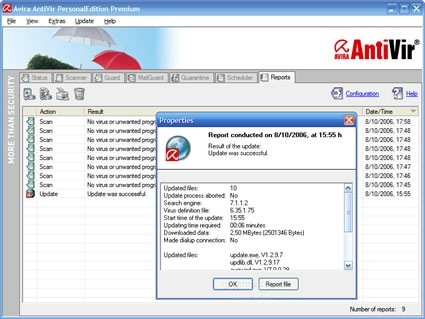 Avira AntiVir PE Premium Suite 8 Beta 3