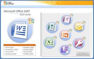 Microsoft office 07 iCon Suite