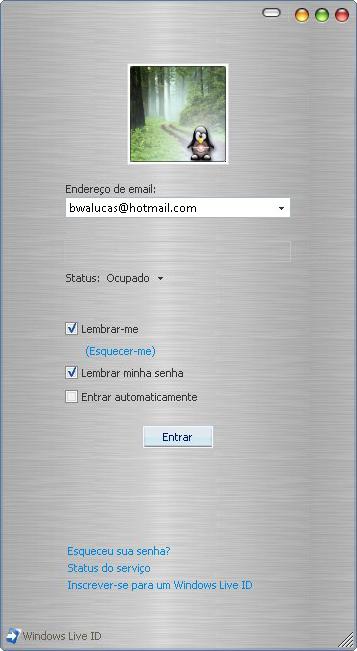 Seu Windows Live Messenger 8.1 estiloMac