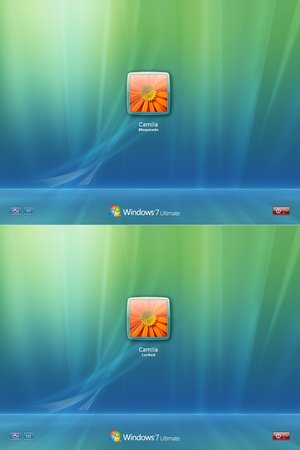 Windows 7 tela de logon