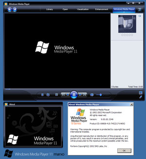 "Windows Media Player 11 ""Skin para WMP 9 ou10″"