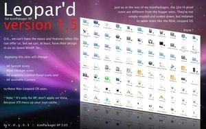 Tenha todos os �cones e cursores do Leopard no seu XP version1.5