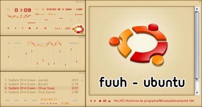 Seu Winamp igual oUbuntu