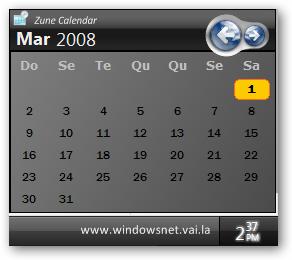 Zune Calendar - Seu Calendário Igual o doZune